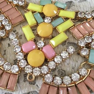 SPRING STATEMENT NECKLACE 🌷 BLUSH CITRONE CRYSTAL